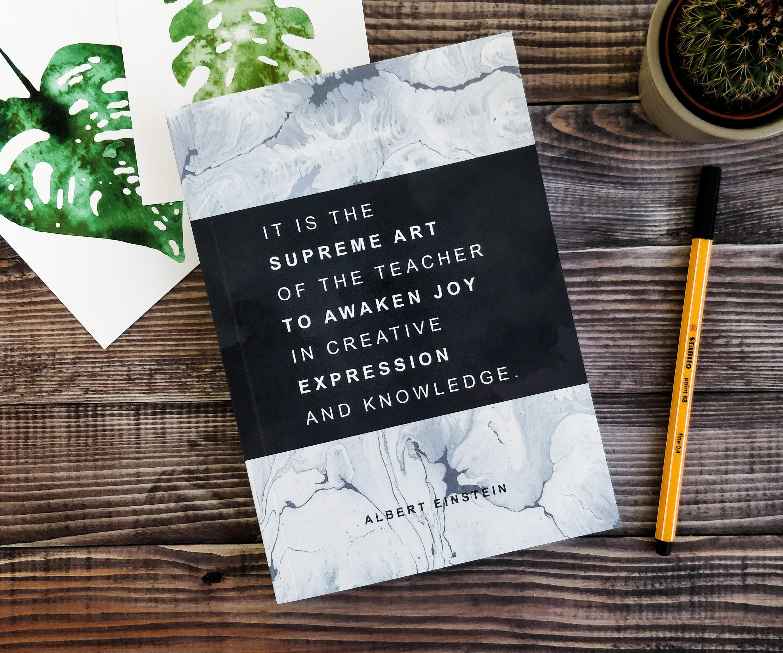 Lehrer Geschenke Einstein Zitat Journal Lehrer-Planer | Etsy