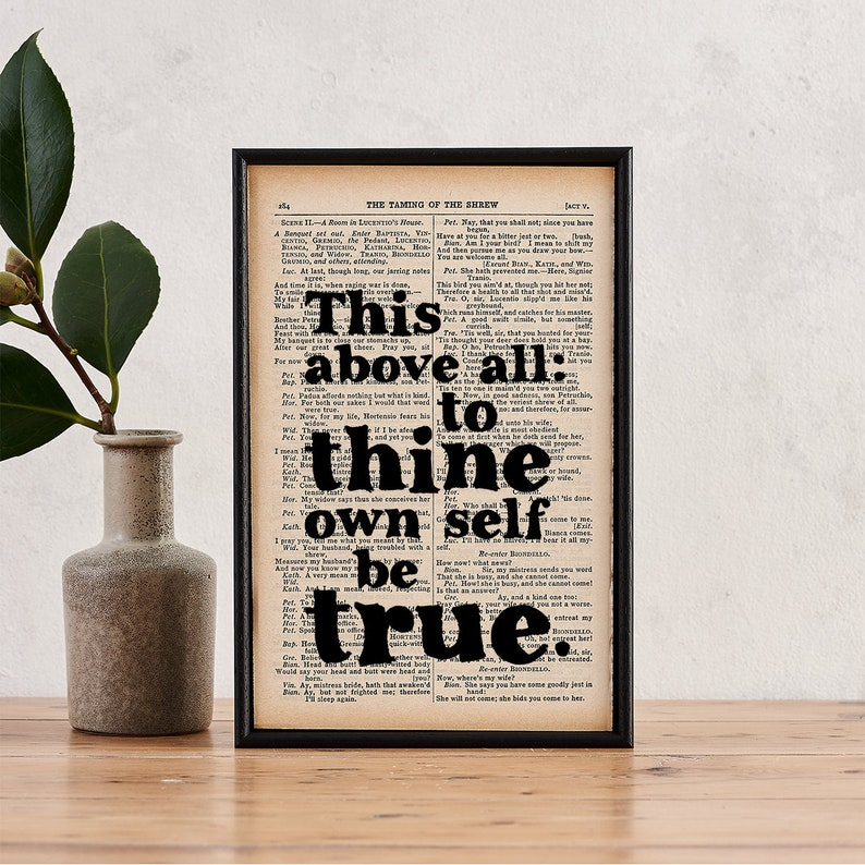 Shakespeare Quote  Book Lover Gift  Literary Gift  image 0