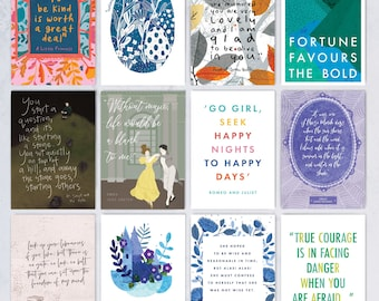 Postcard Set - Classic Book Quotes - Literary gift