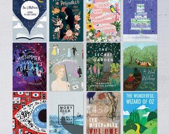 Classic Book Cover Postcard Set - 12 Postcards - 2021 Edition - Literary Postcards