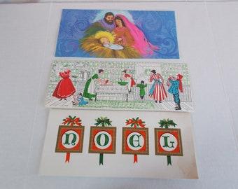 Vintage Used Scrapbook Christmas  Greeting Cards