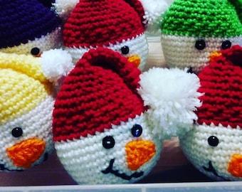 Snowman, Crochet Snowman, Snowball, Christmas Decoration, Bowl Filler, Home Decor, Gift for Teacher, Gift Idea