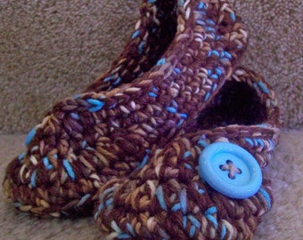 Ladies or Girls Slippers.....in Blue and Brown.....YOUR SIZE