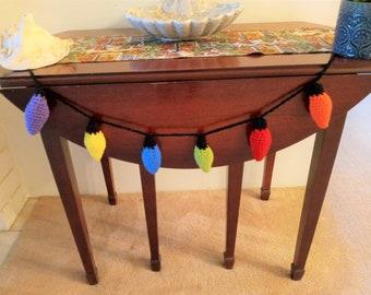Christmas Lights, Crochet Lights, Christmas Decor, Bulbs, Holiday Lights,
