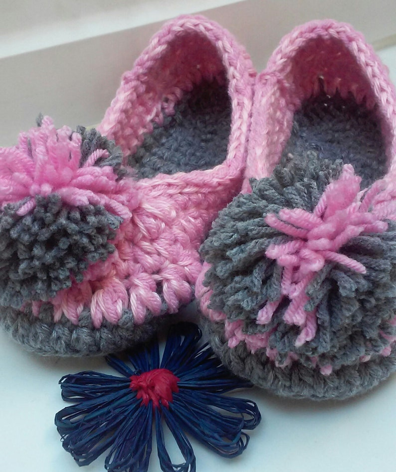 5f9568506526 Ladies Slippers Crochet Slippers House Shoes Womens