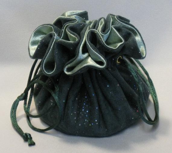 Hunter Green Soft Suedecloth Jewelry Tote--Organizer Pouch--Medium Size