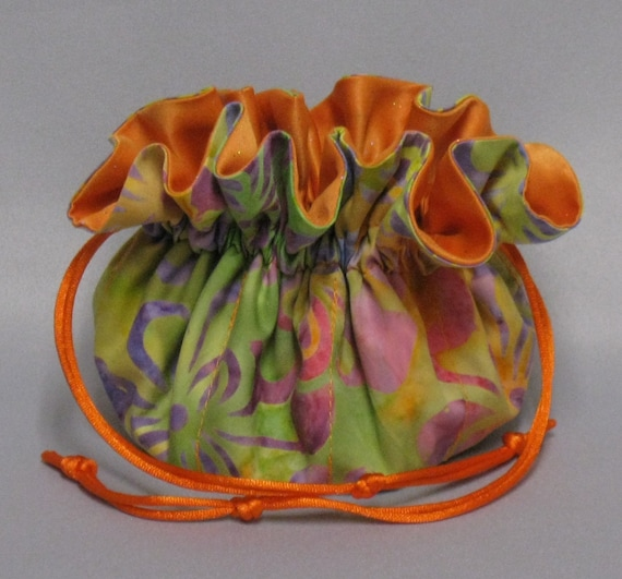 Art Deco Design---Jewelry Travel Tote--Drawstring Organizer Pouch---Regular Size