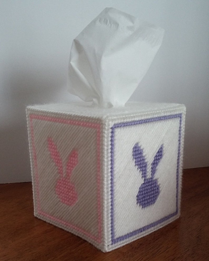 Easter Bunny Themed Tissue Box Cover image 0