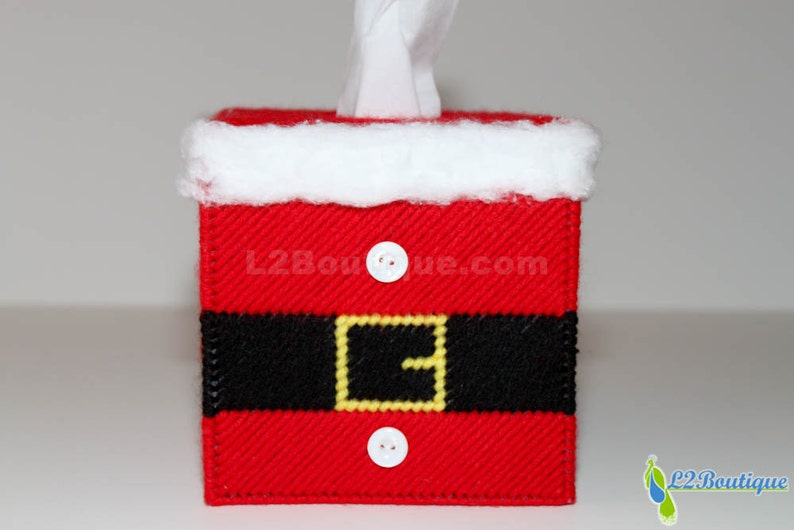 Christmas Collection Santa Suit Tissue Box Cover image 0