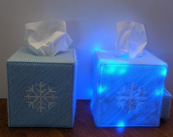 Christmas Decoration Snow Flake Tissue Box Cover with or without Lights