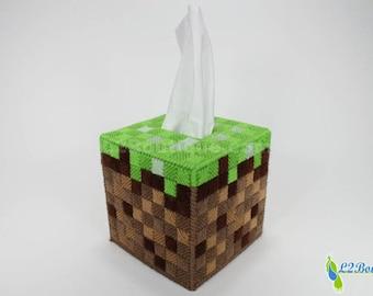Grass Block Tissue Box Cover