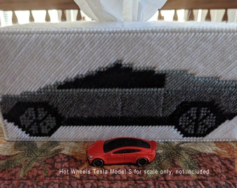 Tesla Inspired Limited Edition CyberTruck Tissue Box Cover (Large)