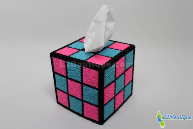Retro Colored Tissue Box Cover image 0