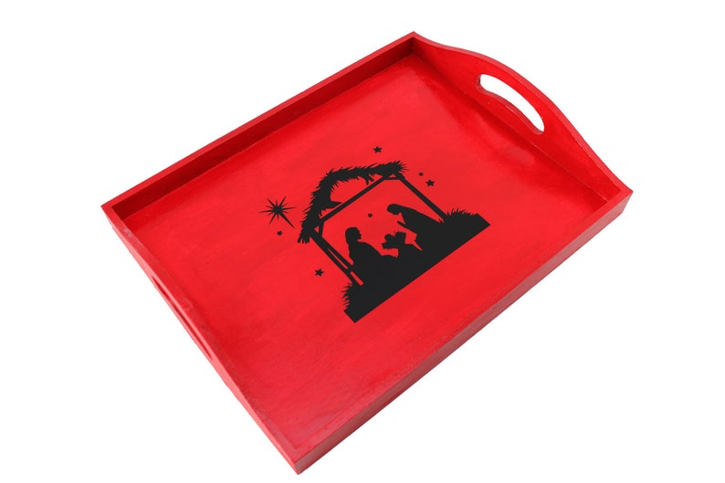 Holiday Serving Tray in Red image 0