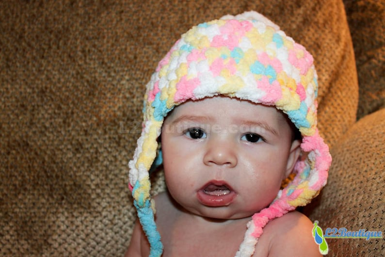 Unbelievably Warm & Soft Multi-Color Baby Hat image 0