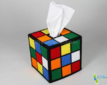 The ORIGINAL & BEST SELLING Rubik's Cube Tissue Box Cover  as seen on tv The Big Bang Theory.