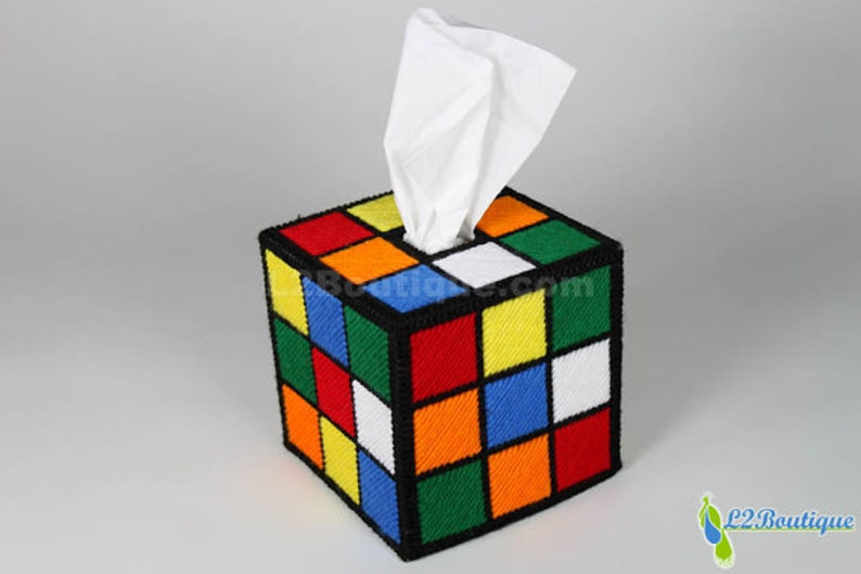 The ORIGINAL & BEST SELLING Rubik's Cube Tissue Box Cover image 1