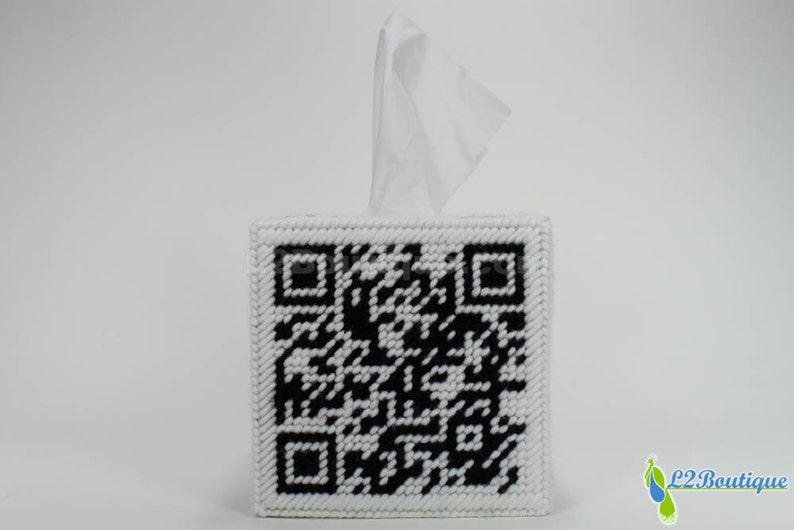 QR Code Tissue Box Cover image 0