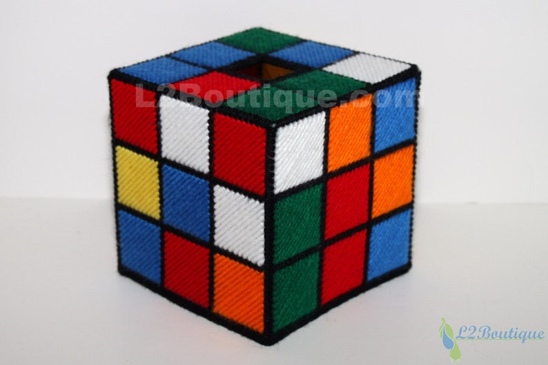 The ORIGINAL & BEST SELLING Rubik's Cube Tissue Box Cover image 0