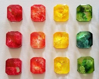 Decorative Accent - Decorative Gemstone - Colourful Decorative Magnet - Colourful Office Magnet - Colourful Kitchen Magnet - Photo Magnet