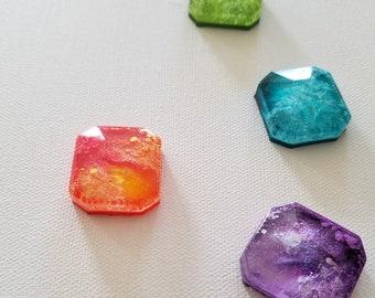 Decorative Accent - Decorative Gemstone - Decorative Magnet - Office Magnet - Kitchen Magnet - Photo Magnet