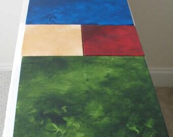 Geometric Art - Modern Geometric Art - Wall Art - Large Artwork Mini Canvas Art Squares 5x5 & 10x10 - Any Colour Combo