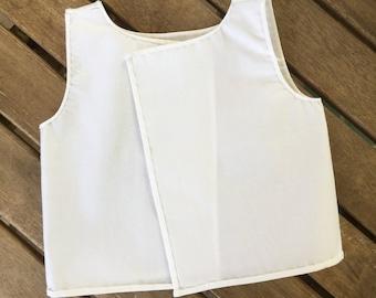 Montessori Undershirt Sewing Pattern: PDF Sewing Pattern for Montessori Style Infant Undershirt