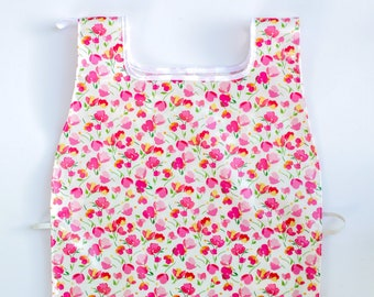 Waterproof Apron - Toddler and Primary - Pink Flowers