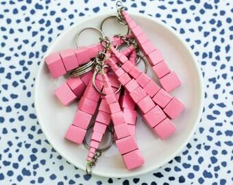 Pink Tower Keychain
