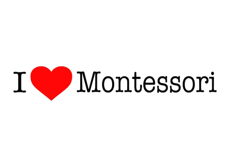 Bumper Sticker  I Love Montessori image 0