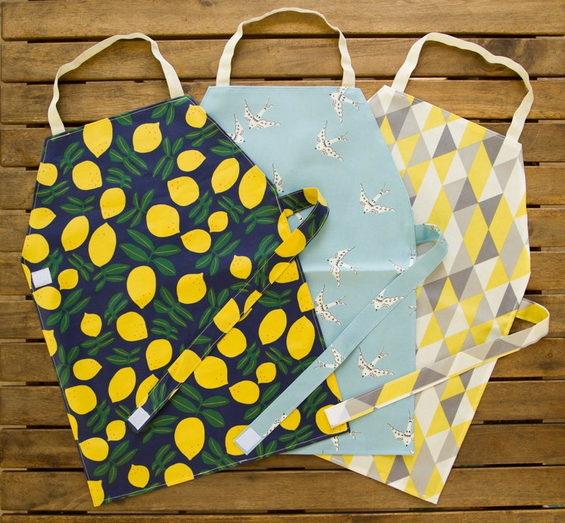 Waterproof Aprons & Mats  Toddler and Primary Yellow/Gray