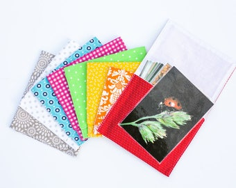 """Large Pouches for Language/Vocabulary Cards - holds up to 5""""x6"""" cards"""