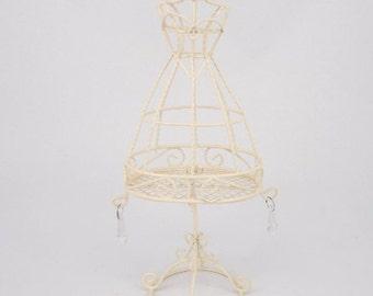 Beige Wired Dress Form Stand