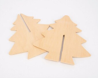 Christmas Tree Wood Deco