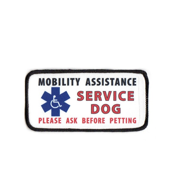--- service dog badge-service dog patch IN TRAINING PLEASE ASK BEFORE PETTING