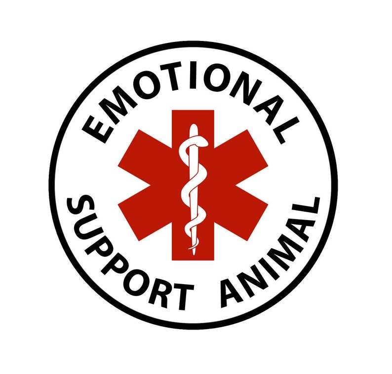 Emotional Support Animal Medical Alert Round Sew On Patch
