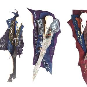 Key-hook Leather and fur Brass hook Brass bird-skull Unique accessories Viking vibes Norse Shamanic Festival Burning man Larp