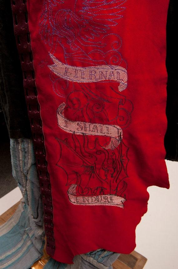 sidebanner angels sale battleskirt Comedy embroidery burgundy costume larp Red leather Divine 119 sca was fair Dante scroll fantasy demons ECA4q