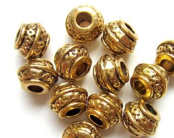 Bulk 40 pcs of antique gold  alloy smooth bead cone antique Gold bead cone 11x8mm