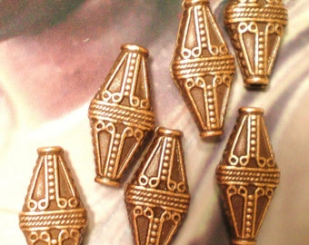 6 Copper beads boho chic Jewelry Findings 22m x 10mm x 5mm(SR7)