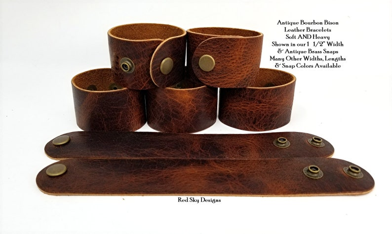 Earth Leather Cuff Blank Leather Bracelet PACK OF 5 Leather image 0