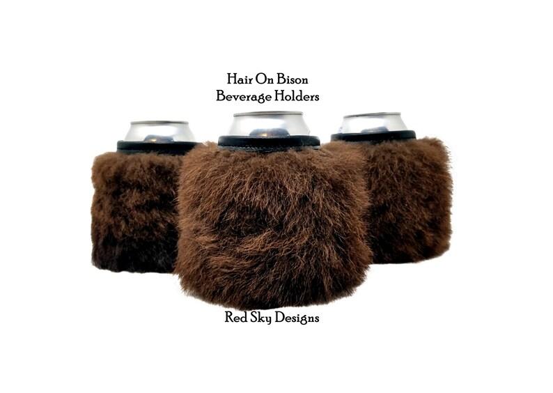 Bison Can Holder Rugged Beer Gift Manly Can Holder Bison image 0