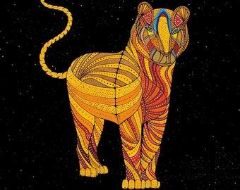 ZODIAC TIGER ART - Chinese Zodiac Animals by Thailan When