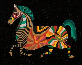 ZODIAC HORSE ART - Chinese Zodiac Animals by Thailan When