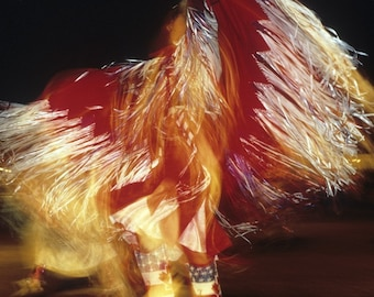 Powwow Photo Native American Dance Photography Indian Photograph Headdress Bold Colors Black Red oth11