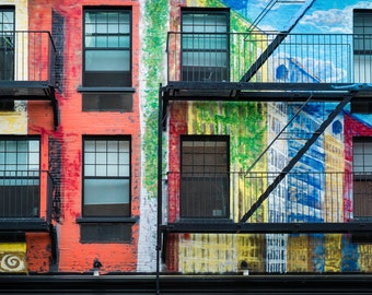 New York Photograph nyc Photography Urban Mural Architecture East Village Manhattan  nyc40
