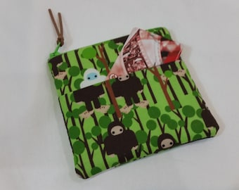 73578489 Handmade Green Bigfoot Kids Wallet or Coin Purse Gift