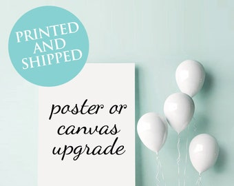 Printed poster or canvas print for weddings and events, UPGRADE, seating chart, keepsake print, guestbook poster, wedding sign, event poster
