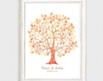 Wedding Fingerprint Guest Book Tree