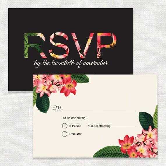 image about Printable Hawaiian Flowers known as luau bridal shower invitation plumeria - printable
